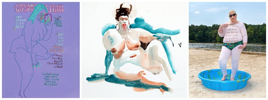 """Artists: Katy Itter, Marcelo Daldoce, Haley Morris-Cafiero """"Body Beautiful"""" Exhibit Artwork"""
