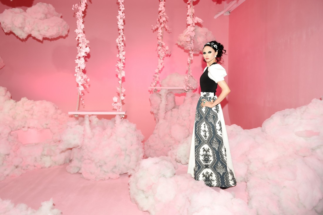1. Stacey Bendet of Alice Olivia NYFW SS2020 photo by Billy Farrel