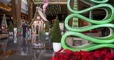 Life size gingerbread house at ARIA Resort Casino