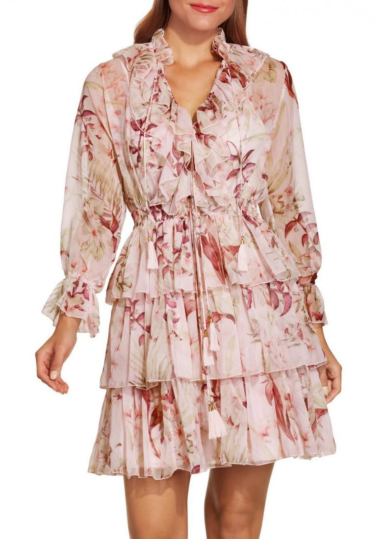 Boston Proper Ruffle Floral Print Dress 149.50