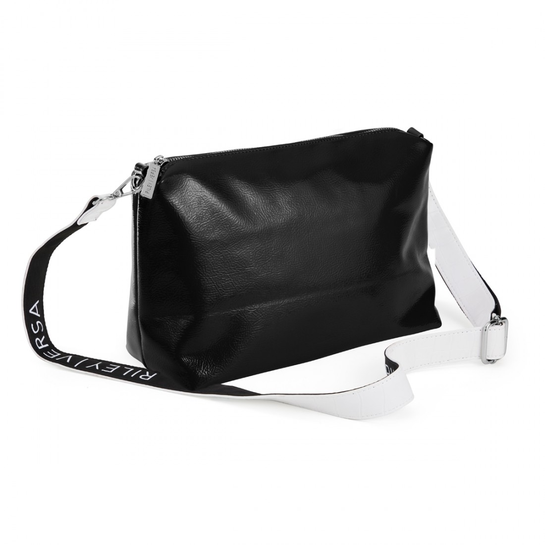 Riley Versa Black Leather Pouch with Strap 50