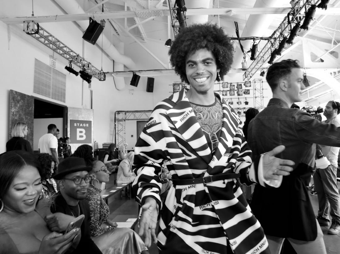 Sean Frazier@Romeo Hunte NYFW SS2020 photo by Cheryl Gorski 15