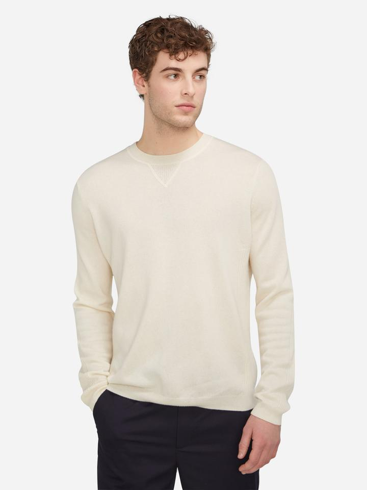 State Cashmere Mens Crew Neck Long Sleeve Cashmere Sweater 130