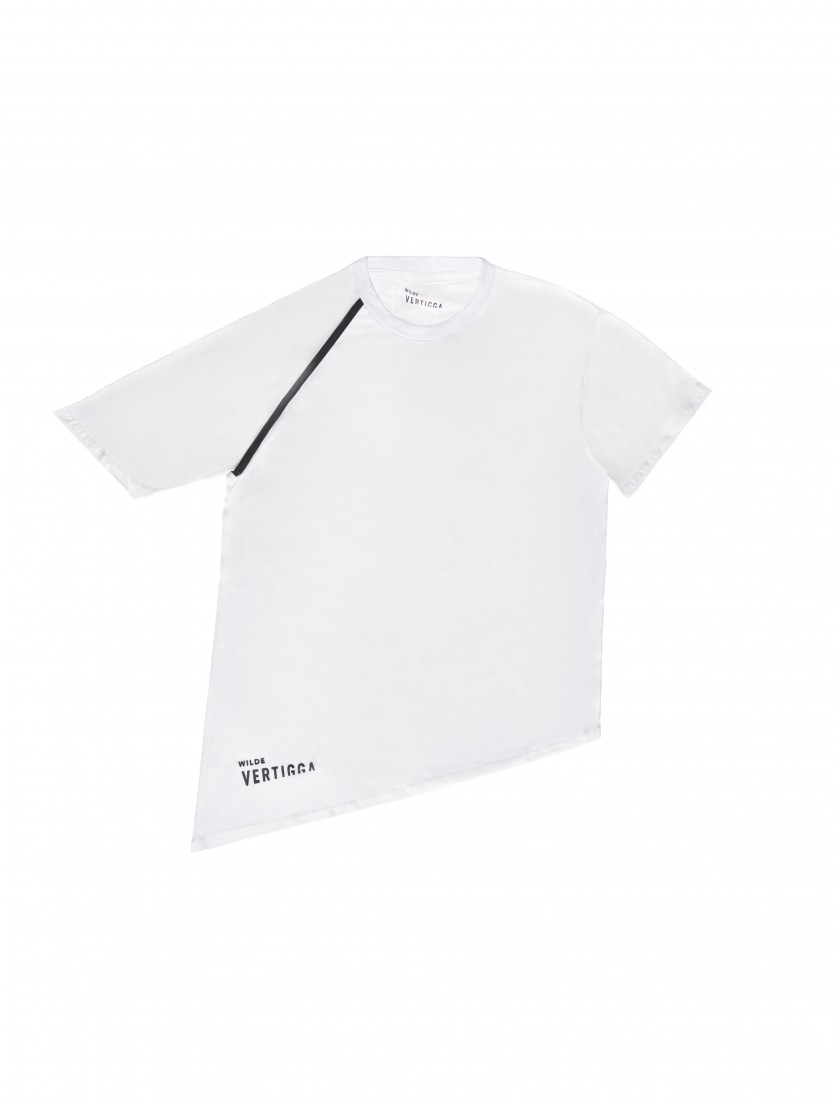 Wilde Vertigga Asymmetrical Sleeve T shirt White 58
