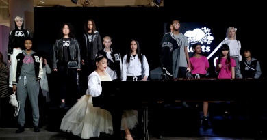 Chloe Flower performing at the ROOTS x BOY MEETS GIRL® presentation hosted by Klarna STYLE360 at New York Fashion Week