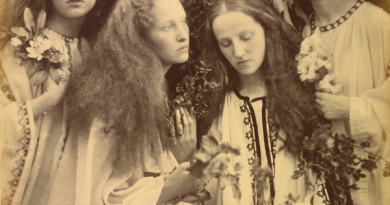 """""""The Rosebud Garden of Girls"""" by Julia Cameron. Virtual Library title: """"Julia Margaret Cameron: The Complete Photographs"""" by Julian Cox, Colin Ford, Joanne Lukitsh, and Philippa Wright"""