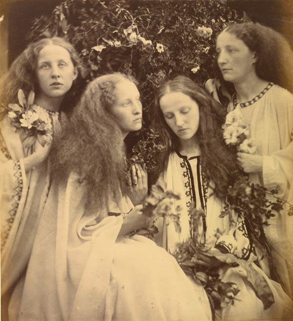 """The Rosebud Garden of Girls"" by Julia Cameron. Virtual Library title: ""Julia Margaret Cameron: The Complete Photographs"" by Julian Cox, Colin Ford, Joanne Lukitsh, and Philippa Wright"