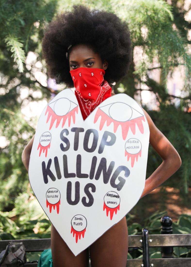 Jason C Peters Black Lives Matter Fashion Show NYC photo by Cj Rivera 3