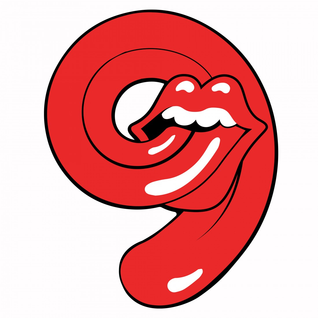 rs tongue White background