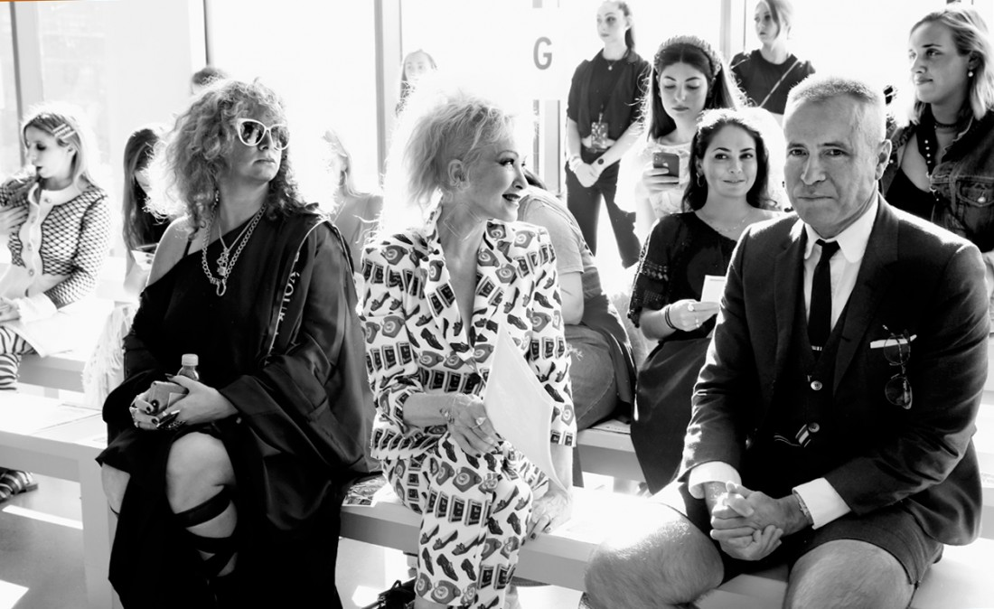 Nikki Fontanella Cyndi Lauper Thom Browne@Libertine NYFW SS2020 photo by Cheryl Gorski 1