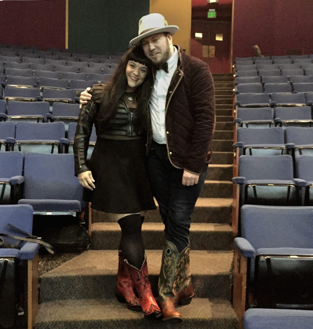 Librettist Royce Vavrek [in photo with Justin boots]